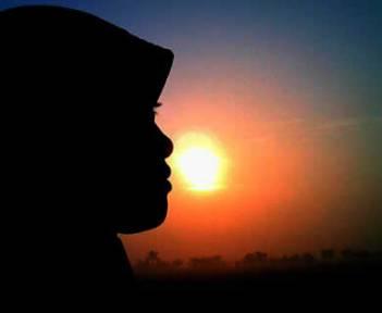 siluet-akhwat-muslimah-senja